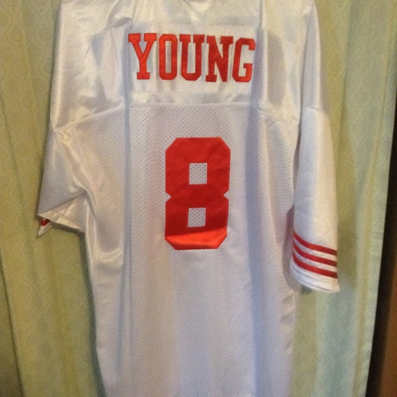 check out 2589d 42397 49ers Steve Young throwback jersey NWT